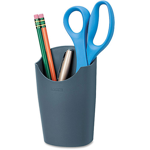 Fellowes Plastic Partition Additions Pencil Cup, Graphite
