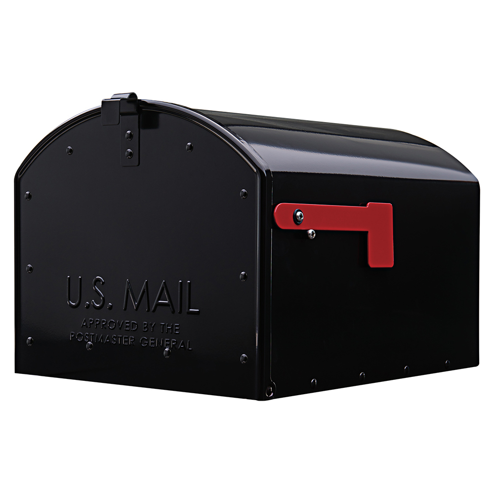 Gibraltar Mailboxes Storehouse Extra-Large Capacity Galvanized Steel Black Parcel Post Mount Mailbox, SH400B01