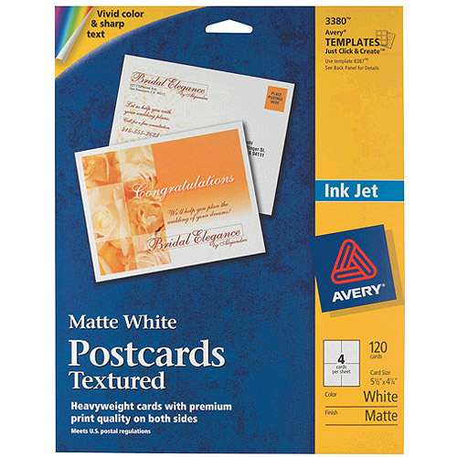 Avery Postcards for Inkjet Printers, White, 120-Pack