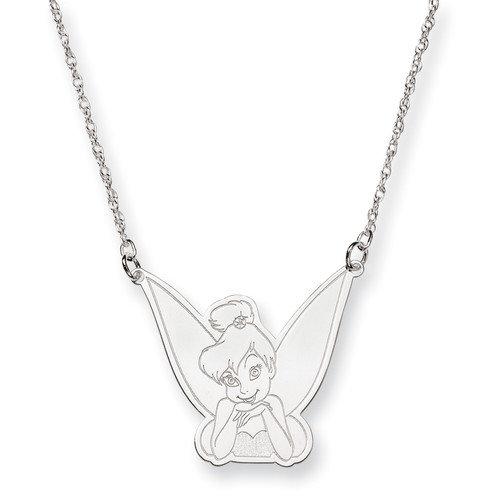 Jewelryweb Sterling Silver Disney 18inch Tinker Bell Necklace