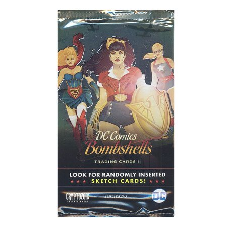 Cryptozoic Trading Cards - DC Comics Bombshells S2 - BOOSTER PACK (5 cards) (Cosmic Comics Cards)
