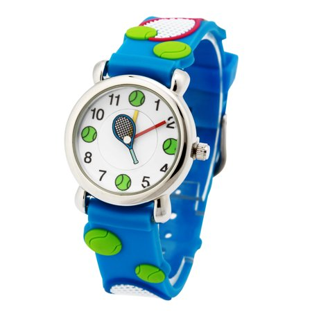 Kids Watches 3D Cute Cartoon Waterproof Silicone Children Toddler Wrist Watch Time Teacher Birthday Gift for 3-12 Year Boys Girls Little Child Memory World Time Watch