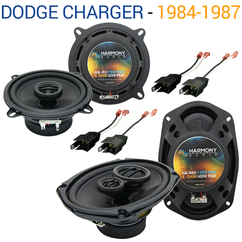 Dodge Charger 1984-1987 Factory Speaker Upgrade Harmony R5 R69 Package New