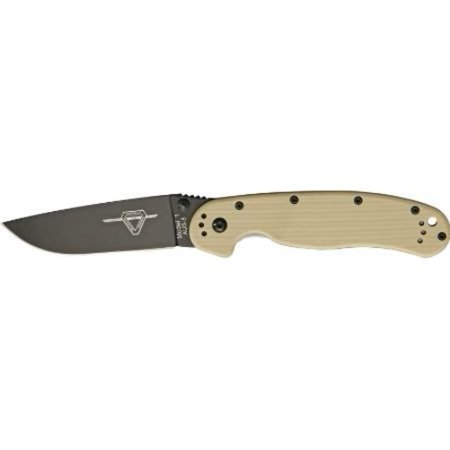 Ontario Knives 8846Dt Black Finish Rat 1 Linerlock Knife With Desert Tan G 10 Handles Multi Colored