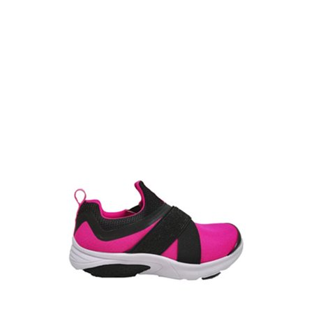 Athletic Works Slip-On Strap Running Shoe (Toddler Girls)
