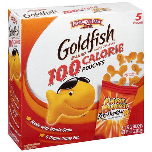 Pepperidge Farm Goldfish 100 Calorie Pouches Baked Snack Crackers, 3.6 oz