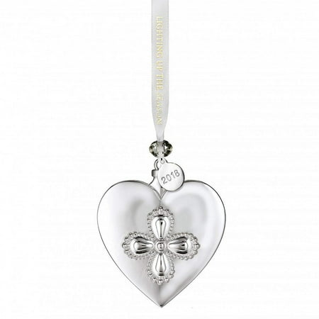 Waterford 2018 Silver Heart Christmas Ornament, 2018 Ornament By Marquis By Waterford Waterford Marquis Crystal Ornaments
