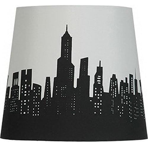 Mini lamp shades mainstays cityscape lamp shade aloadofball Gallery