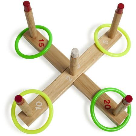 Champion Sport, CSIQS1, s Wooden Target Ring Toss Set, 1, - Diy Halloween Ring Toss