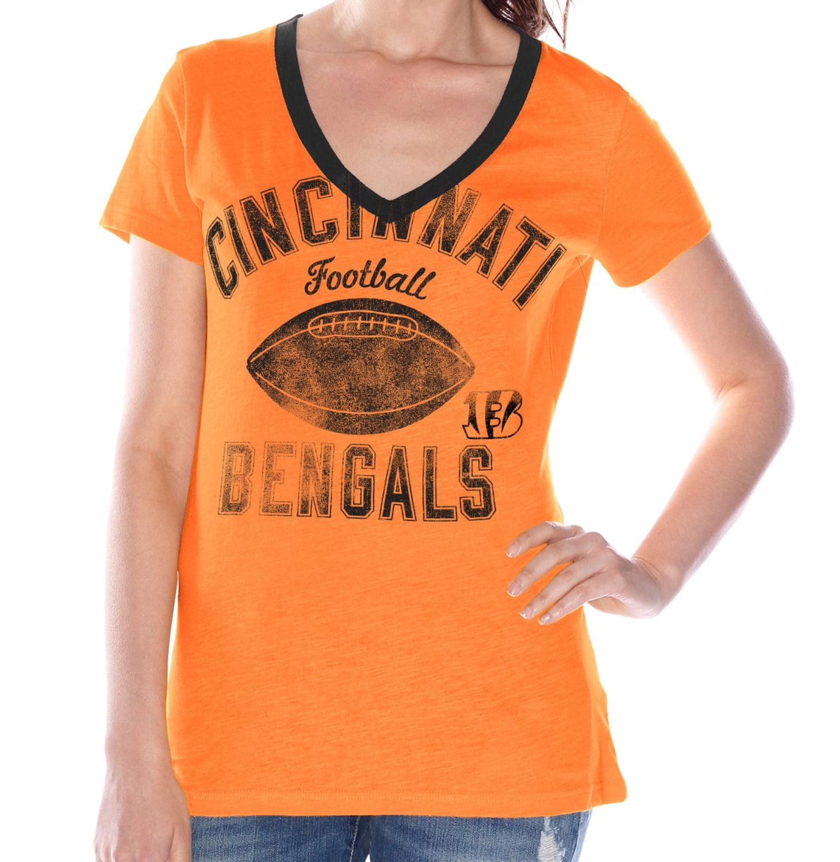 """Cincinnati Bengals Women's G-III NFL """"Flea Flicker"""" V-neck T-shirt"""