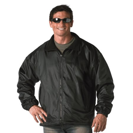 Mens Black Reversible Jacket, Fleece Windbreaker, Coat