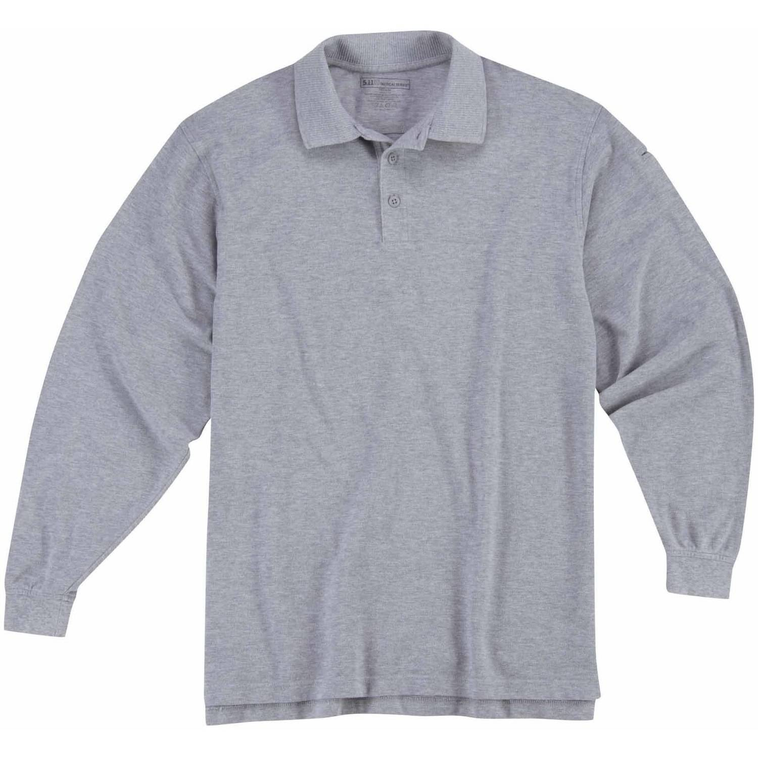 5.11 Tactical Long Sleeve Professional Polo Shirt, Heather Grey