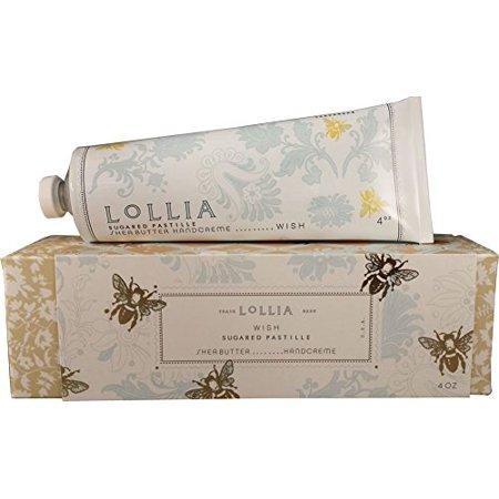 Lollia Wish Shea Butter Hand Creme w Sugared Pastille Macadamia Brazil Nut