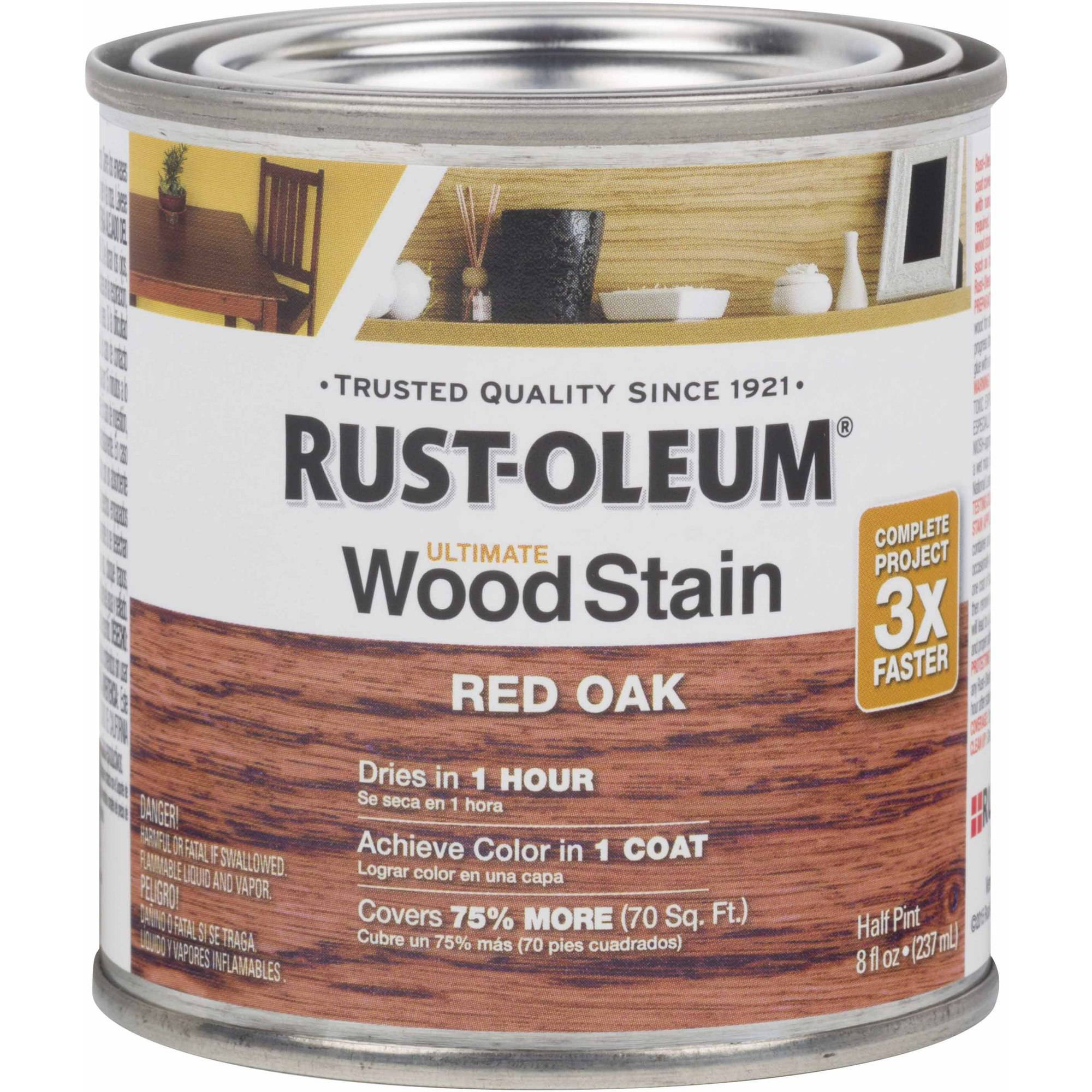 Rust-Oleum Ultimate Wood Stain Half-Pint, Red Oak