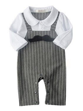 6dd58905d Product Image StylesILove 3D Mustache Long Sleeve Baby Boy Romper Onesie  Clothing Set - 2 Colors (18