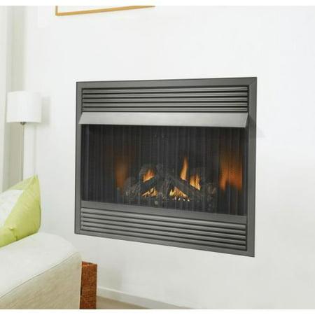 000 BTU Vent Free Zero Clearance Gas Fireplace - Walmart.com