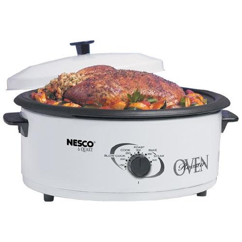 The Metal Ware 4816-14-30 Electric Roaster Oven - 0.20 ft Main Oven - White