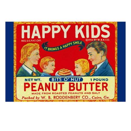 Happy Kids Bits O' Nut Peanut Butter Print Wall - Bit Z Kids