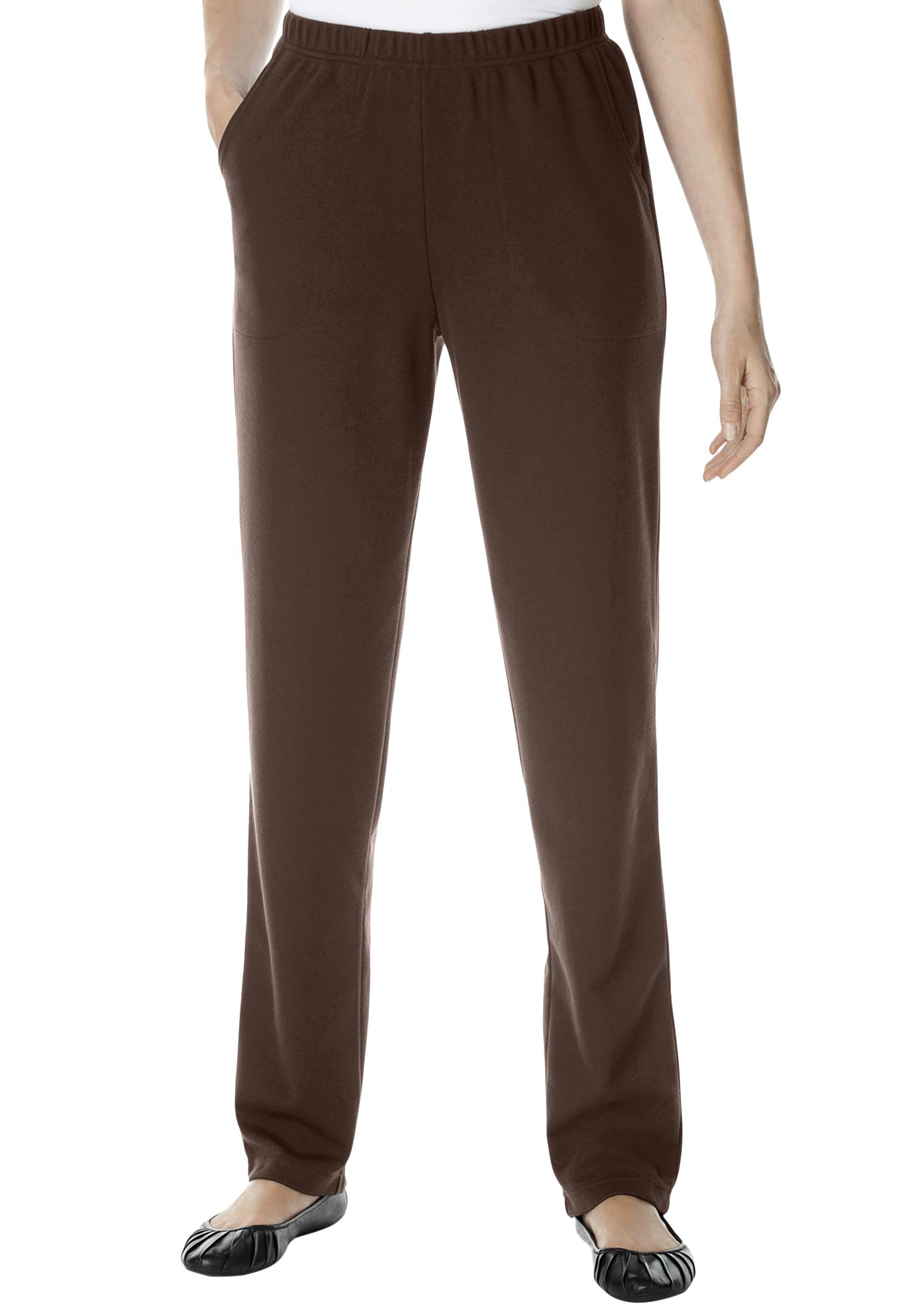 Woman Within Plus Size Petite Straight Leg Ponte Knit Pant
