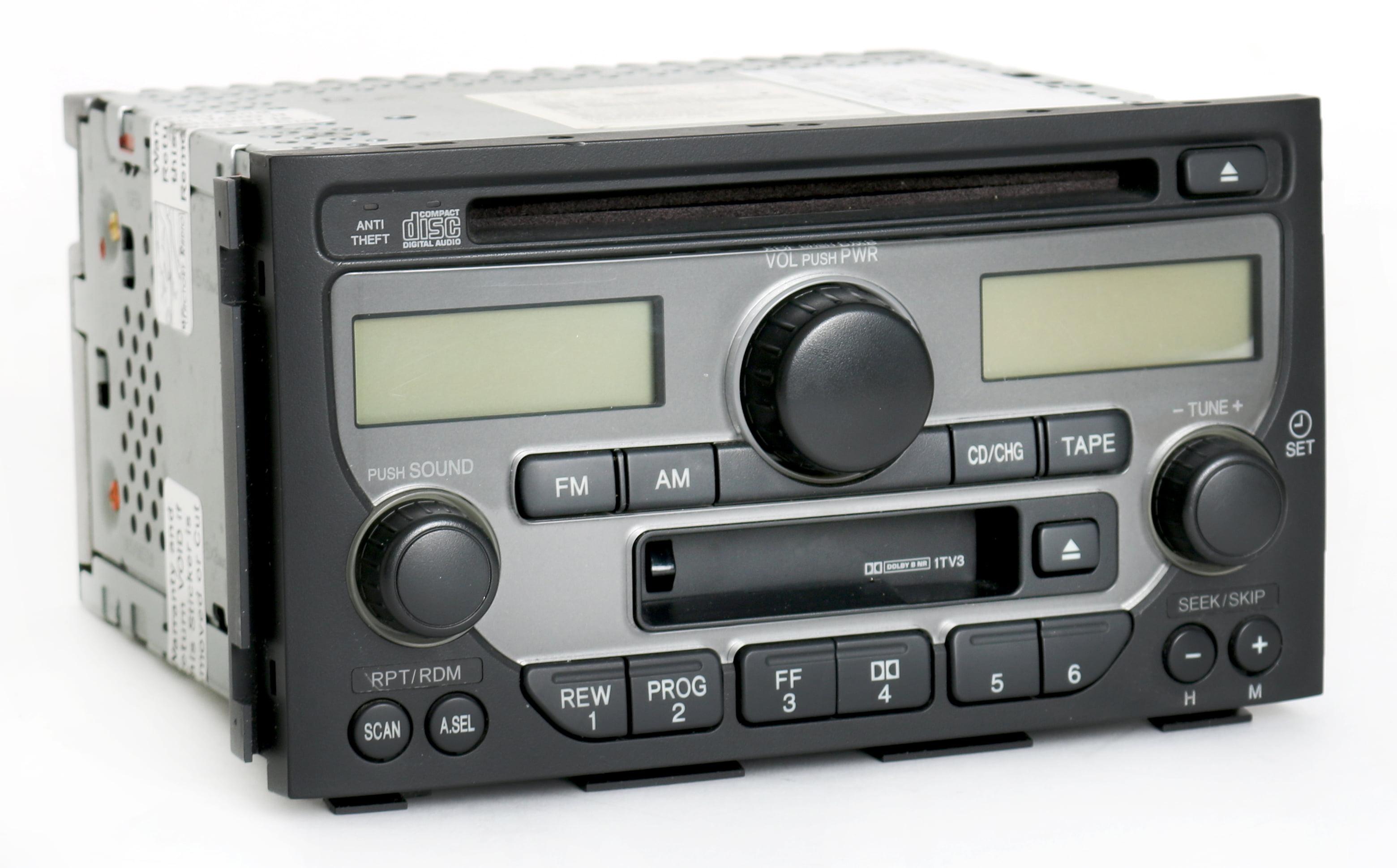 Honda Pilot 2003-2005 Radio AM FM CD Cassette Player 39100-S9V-A120 Face 1TV3 Refurbished by Honda