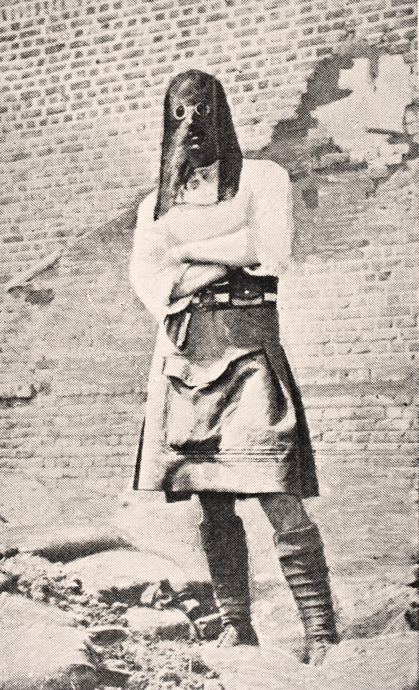 Click here to buy Scottish Soldier Wearing Gas Mask In 1915 From The War Illustrated Album Deluxe Published London 1916 PosterPrint by Design Pics.
