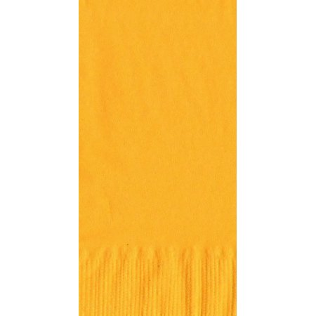 50 Plain Solid Colors Dinner Hand Towel Napkins Paper - Harvest/School Bus Yellow