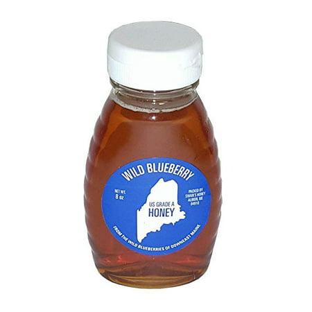 Maine Wild Blueberry Honey - 8oz, U.S GRADE A