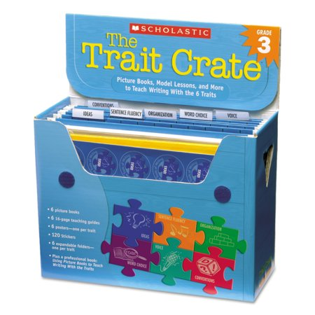 Scholastic Trait Crate, Grade 3, Seven Books, Posters, Folders, Transparencies, Stickers