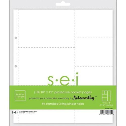 10 X12  Pages With 4 X6  & 4 X3  Pockets 10/Pkg -