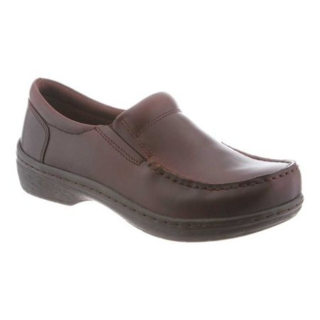 Klogs Knight Men's Leather Slip-on - Slip Resistant & Supportive - Mahogany (Best Supportive Shoe Brands)
