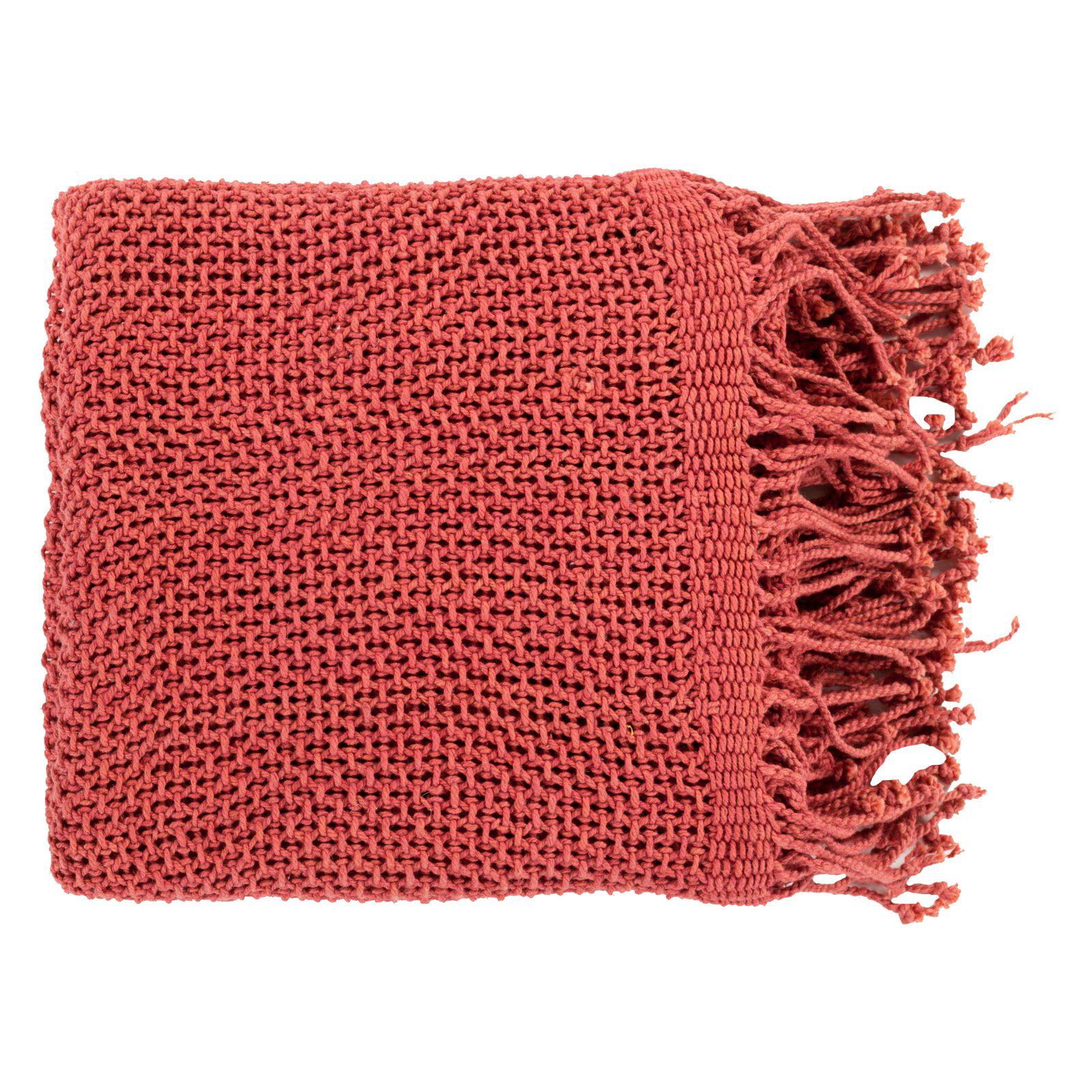 Surya Tibey Cotton Throw Blanket