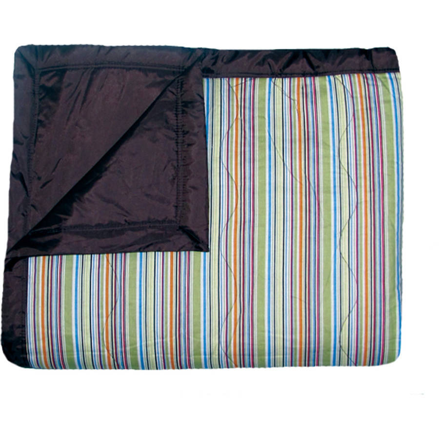 Tuffo Water-Resistant Outdoor Blanket-Color:Mini Stripe