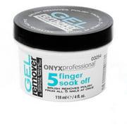 Onyx Professional 5 Fingers Soak Off Gel Remover, 4 fl oz