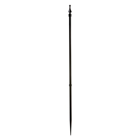 Roxbury ROXBURY24P Aluminum Spike Post Fence with Finial Cap, 39-Inch, Black, 39-inch long black aluminum spike post with finial cap By Specrail