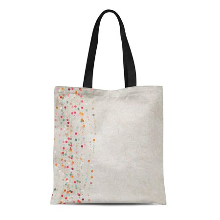 POGLIP Canvas Tote Bag Party Green and Beidge Vintage Polka Dot Also Includes Durable Reusable Shopping Shoulder Grocery Bag - image 1 of 1