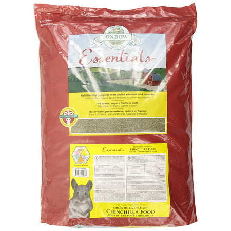 Sox Fiber - Essentials Deluxe Chinchilla Food, 25-Pound, Soy Products = Fiber, Balanced Protein, Healthy Fat By Oxbow Animal Health