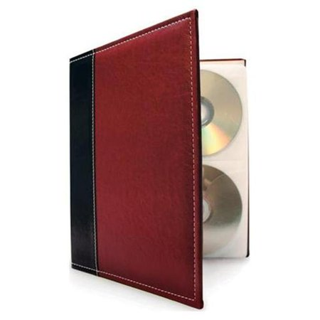 HandStands 11309PACK3 Bellagio-Italia CD-DVD-Blu-Ray Binder Storage System- 3 Pack Burgundy