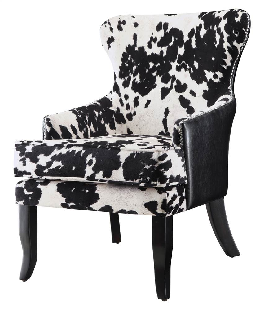 Accent Chair with Cowhide Print by Coaster Co. of America