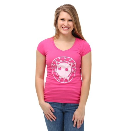 Pokemon Jiggly Puff Varsity Womens V-Neck T-Shirt