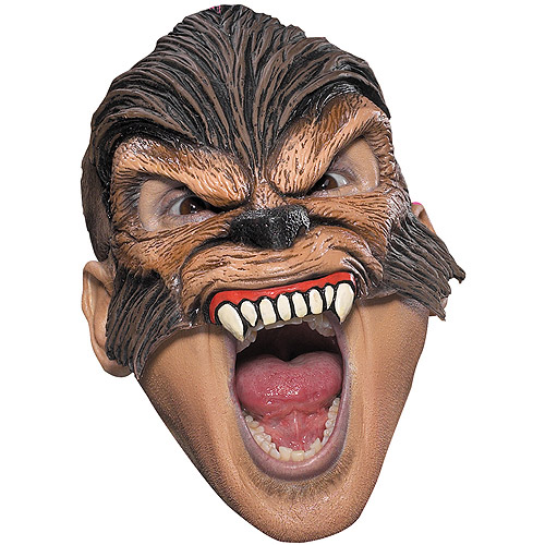 Chinless Wolfman Latex Mask Adult Halloween Accessory