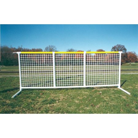 Split Rail Fencing (Sportpanel Fencing in White w Yellow Top Safety)