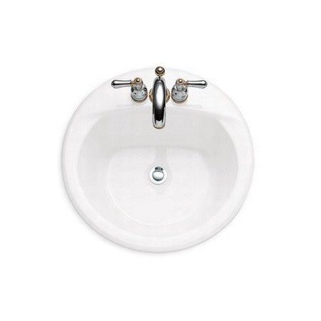 American Standard3409 803 020 Acclivity Americast Brand Engineered Material Countertop Sink With Faucet Holes On