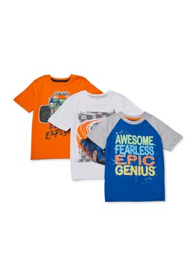 365 Kids from Garanimals Boys 4-10 Mix & Match Cars T-Shirt 3-Piece Multipack