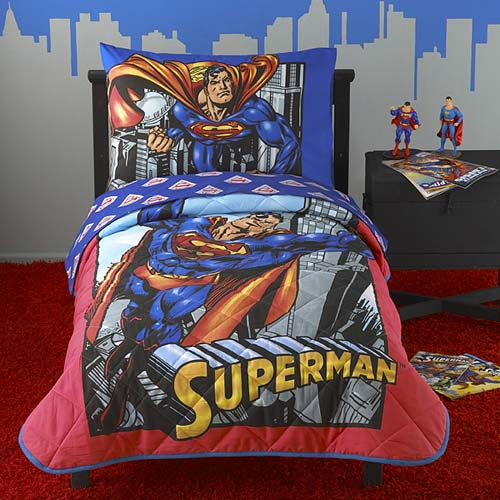 Superman 4-piece Toddler Bedding Set