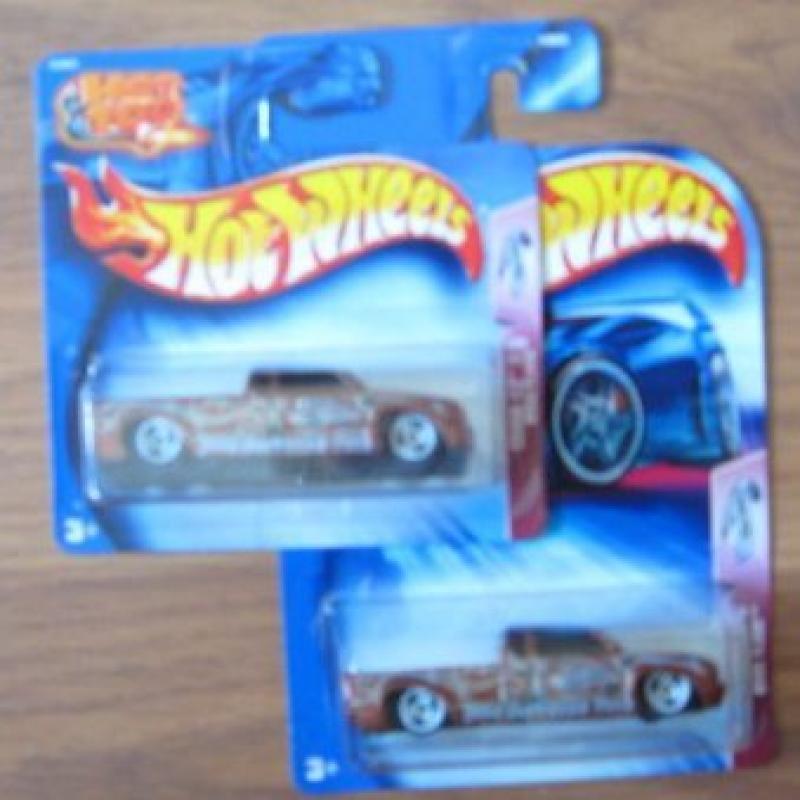 Hot Wheels 2004 Crank Itz 2/5 Steel Flame BROWN 144 Card Variation