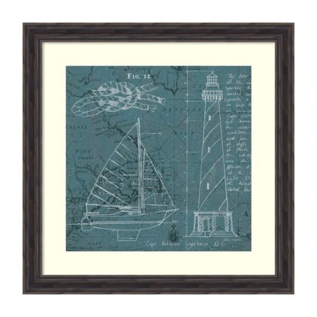 Amanti Art Coastal Blueprint III by Marco Fabiano Framed Painting Print