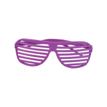 80's Neon Purple Shutter Shade Toy Sunglasses Party Favors Costume Accessory