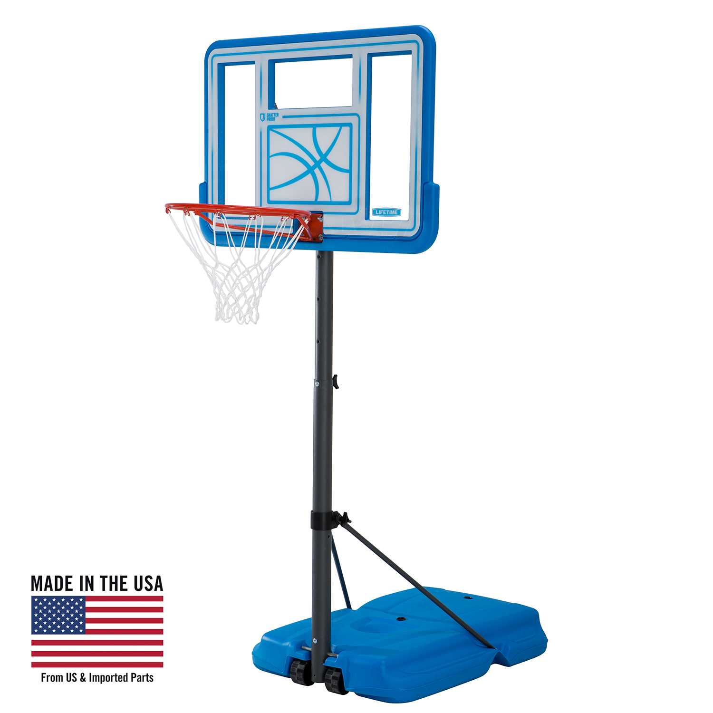 Lifetime Pool Side Adjustable Portable Basketball Hoop (44-Inch), 90742