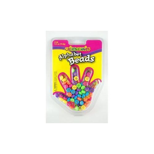 Alphabet Beads 2.5 Oz Assorted- Creative Hands (Pack of 180)