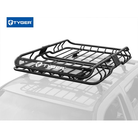Tyger Auto TG-RK1B902B Heavy Duty Roof Mounted Cargo Basket Rack | L47